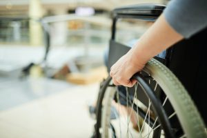Disabled patient in wheelchair